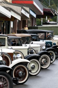 Vintage cars in Leura